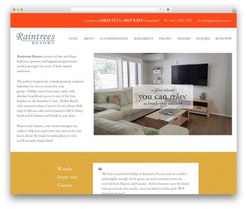 Flash Child Theme WordPress theme design - raintrees.com.au