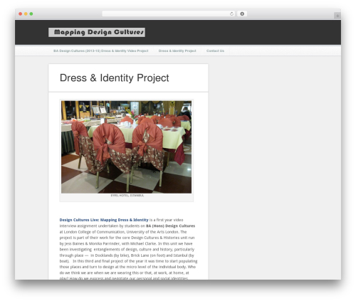 Motion Picture WordPress theme design - mapping-design.org