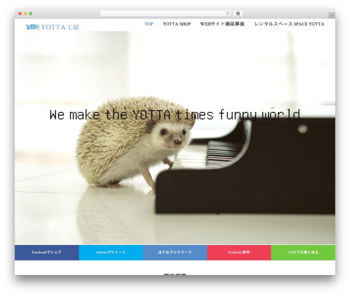 Profiles WordPress template - yotta.co.jp