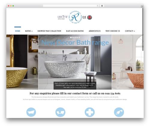 Stardust premium WordPress theme - renaissance-baths.co.uk