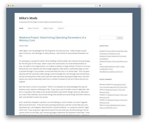 Free WordPress Announcer plugin - mikesmods.com