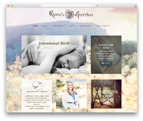 Best WordPress theme X - rumisgarden.com