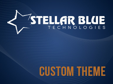Custom WordPress Theme - Stellar Blue Technologies WordPress template