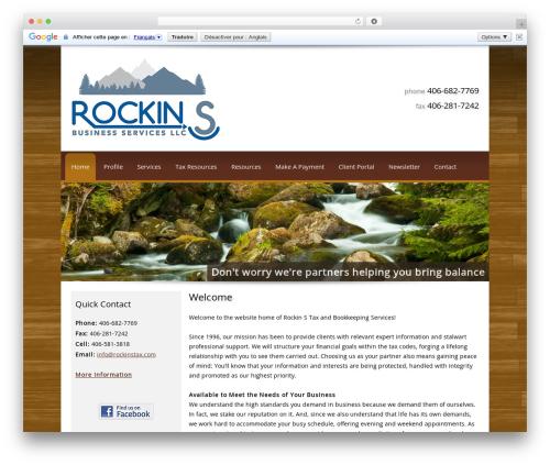 Customized WordPress theme - rockinstax.com