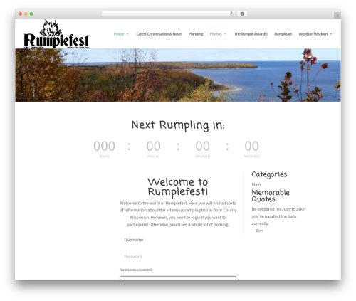 Divi WordPress theme - rumplefest.com