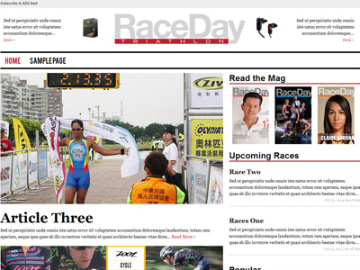 Race Day Magazines WordPress magazine theme