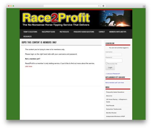 Sporty WordPress template free download - race2profit.co.uk