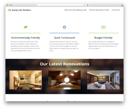 Sydney top WordPress theme - randylahrbuilders.com
