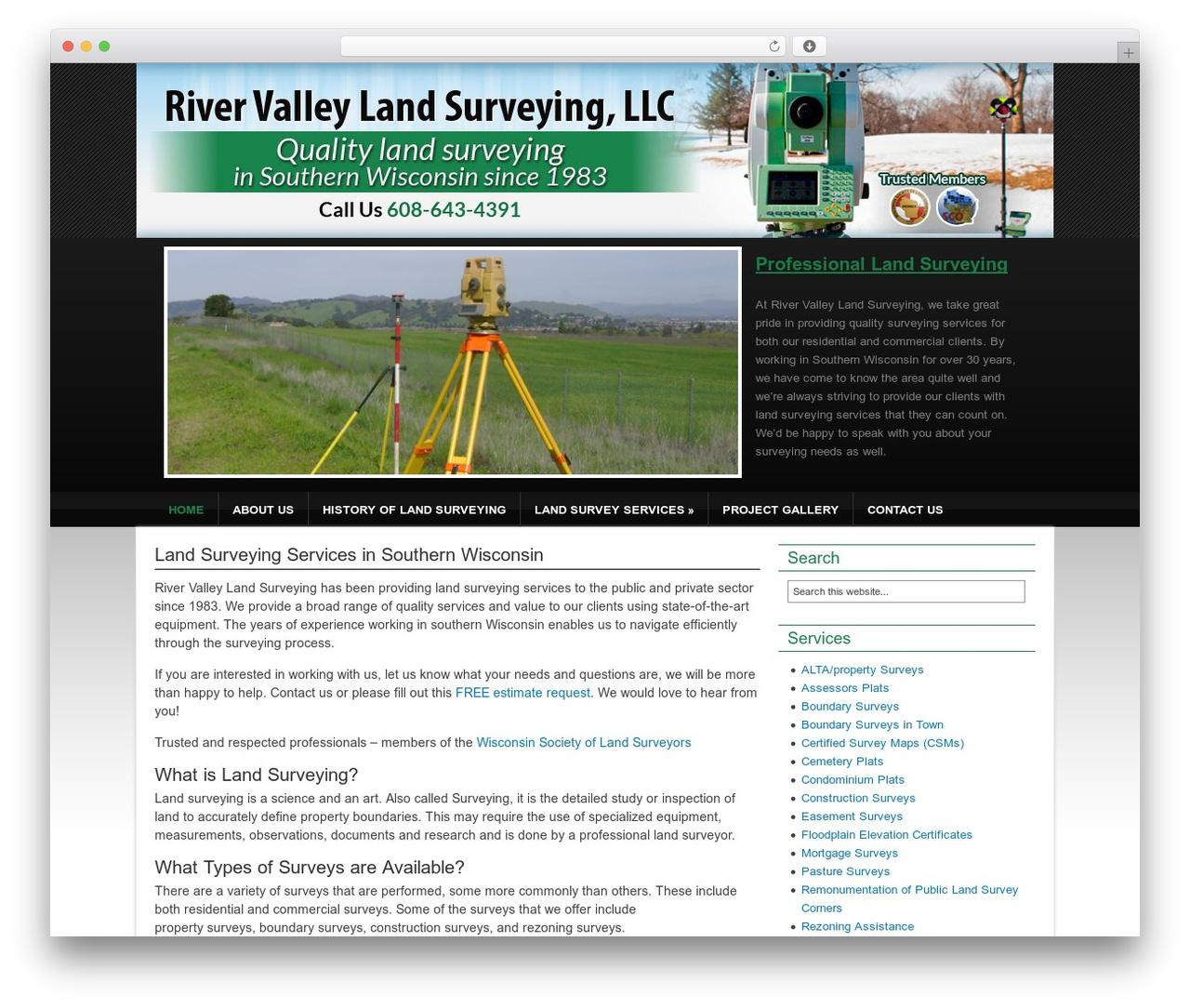 Theme WordPress Catalyst - rivervalleylandsurveying.com