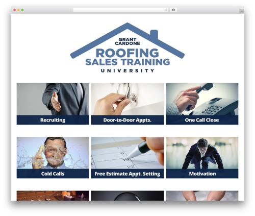 WordPress template GRATA - roofingsalesuniversity.com