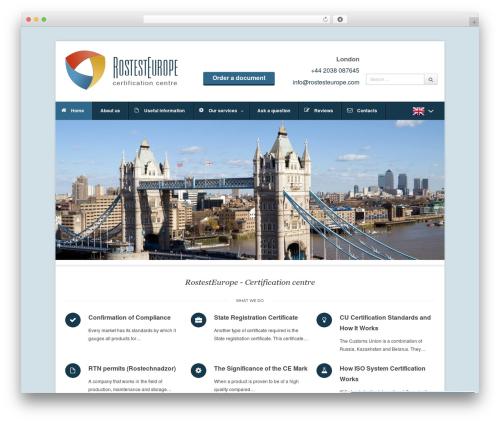 WordPress template Pytheas - rostesteurope.com/en