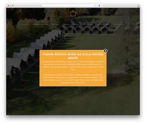 WordPress theme Bridge - radoff.cz