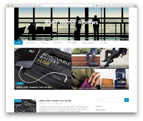 WordPress theme Entrance - roadwarriorreviews.com