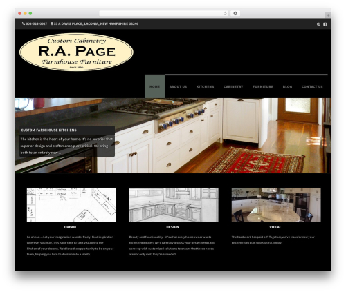 WordPress theme Formation - rickpagecabinetry.com