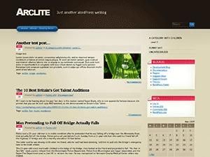 Arclite WordPress template