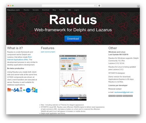 BootstrapWP WordPress website template - raudus.com