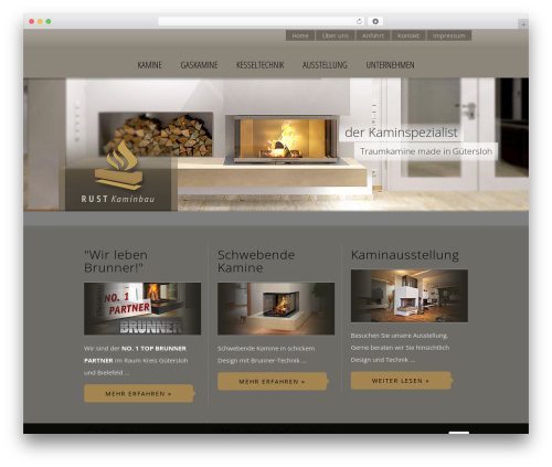 Brandon WordPress page template - rust-kaminbau.de
