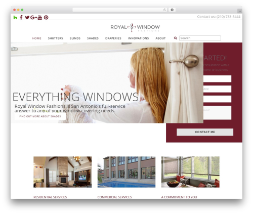 Bridge fashion WordPress theme - royalwindowfashions.com
