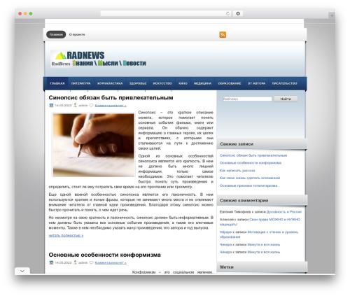 FinanceBlog WordPress magazine theme - radnews.ru