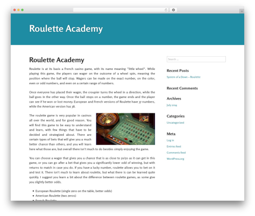 Gumbo best WordPress theme - rouletteacademy.com