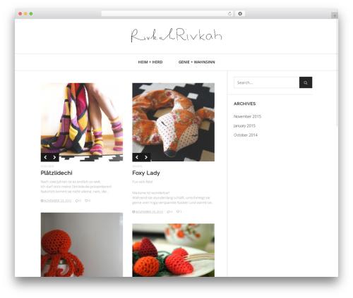 Heap template WordPress - rivkah.ch