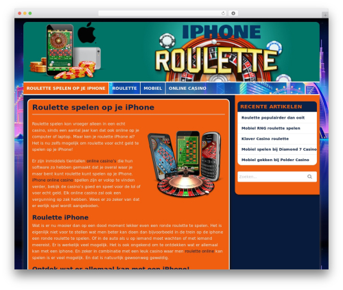 High Roller WordPress theme - rouletteiphone.nl