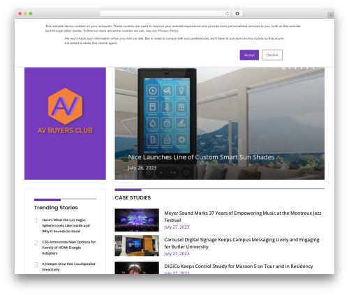 NewsPlus WordPress news theme - ravepubs.com/buyers-club