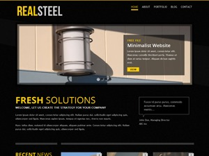 Real Steel template WordPress