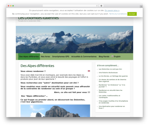 Free WordPress TablePress plugin - randonner-dolomites.com/accueil