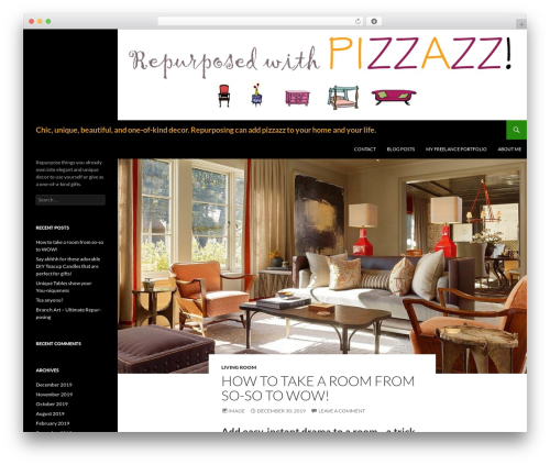 Twenty Fourteen theme WordPress free - repurposedwithpizzazz.com