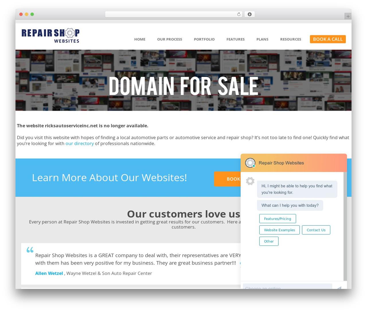 WordPress template RSW by Sachin Khosla - repairshopwebsites.com ...