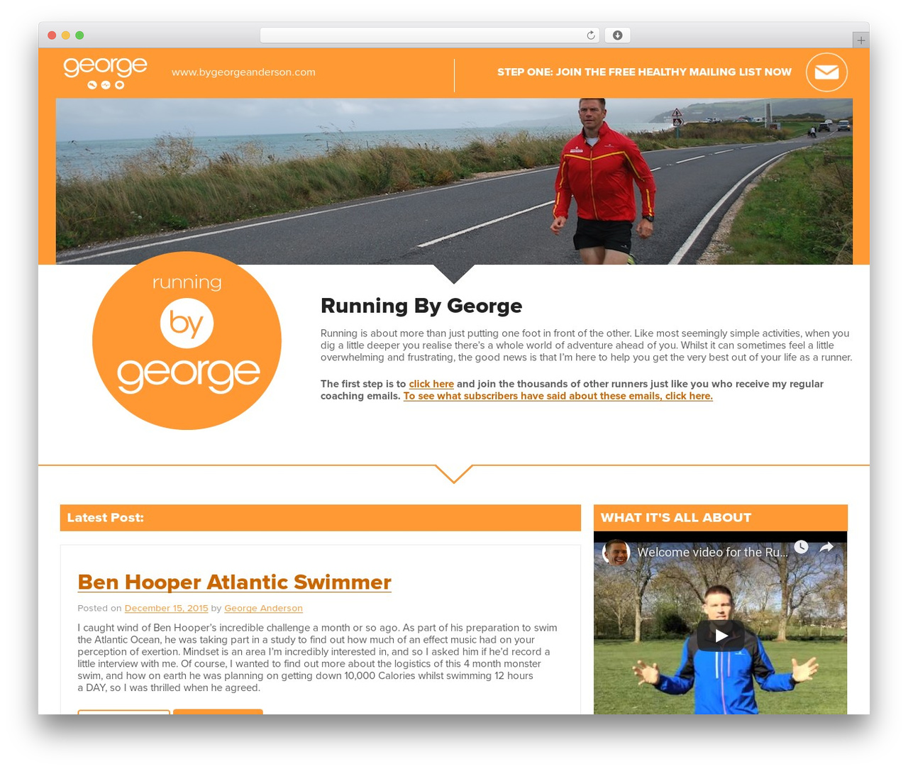 WordPress theme Running By GeorgeA by Underscores.me vs Jyst