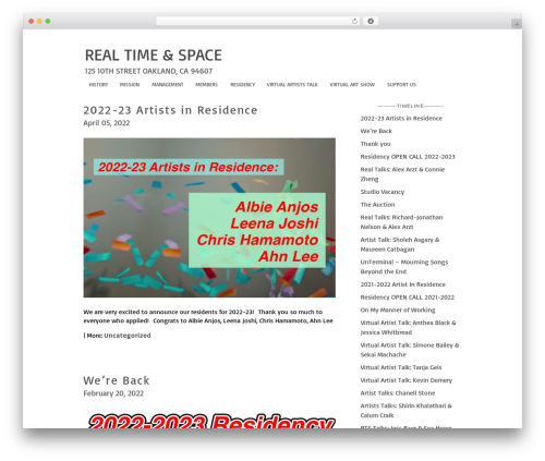 WPFolio theme WordPress - realtimeandspace.org