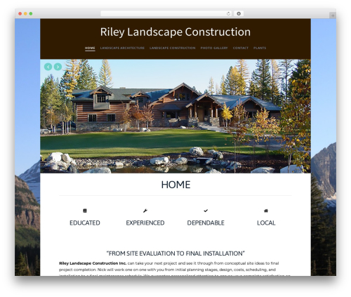 X landscaping WordPress theme - rileylandscapes.com