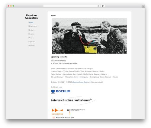 Best WordPress theme Solo - randomacoustics.net