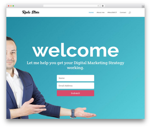 Divi WordPress page template - radustoia.com