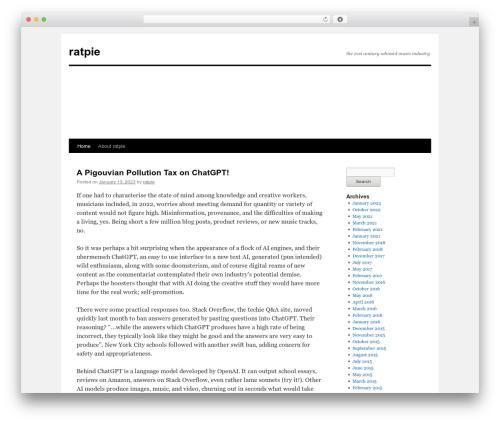 Twenty Ten WordPress template free - ratpie.org