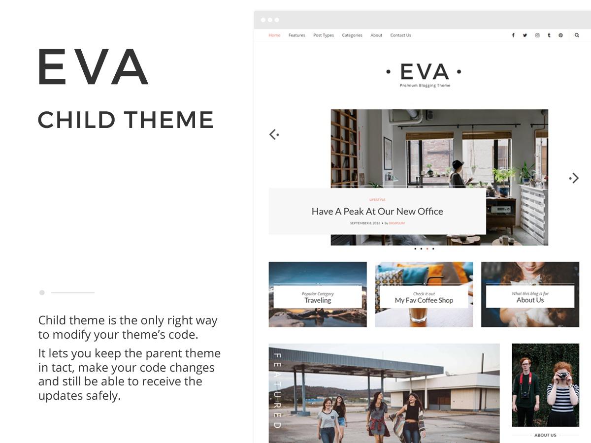 WordPress theme Eva Child