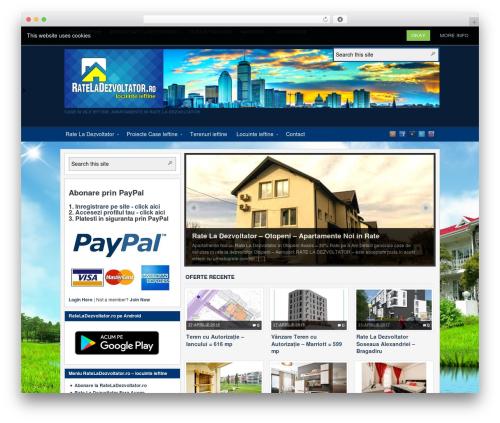 Arras WordPress theme design - rateladezvoltator.ro