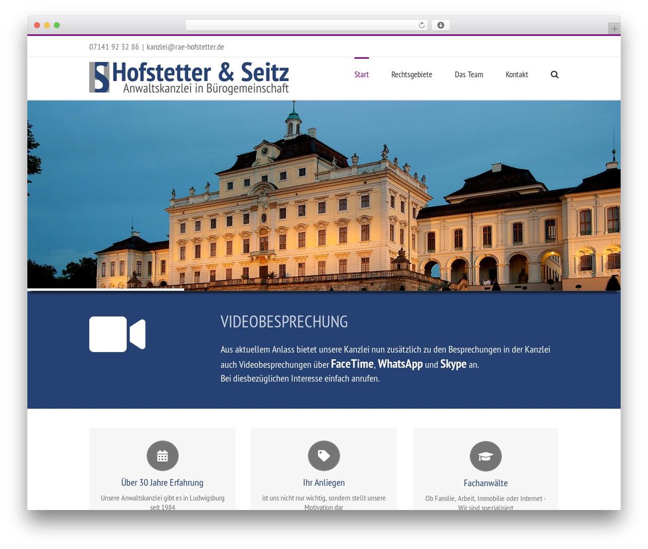 Avada best WordPress template - rae-hofstetter.de