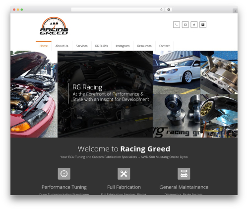 Best WordPress template Falco - racinggreed.com