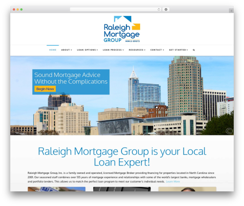 Best WordPress theme X - raleighmortgagegroup.com