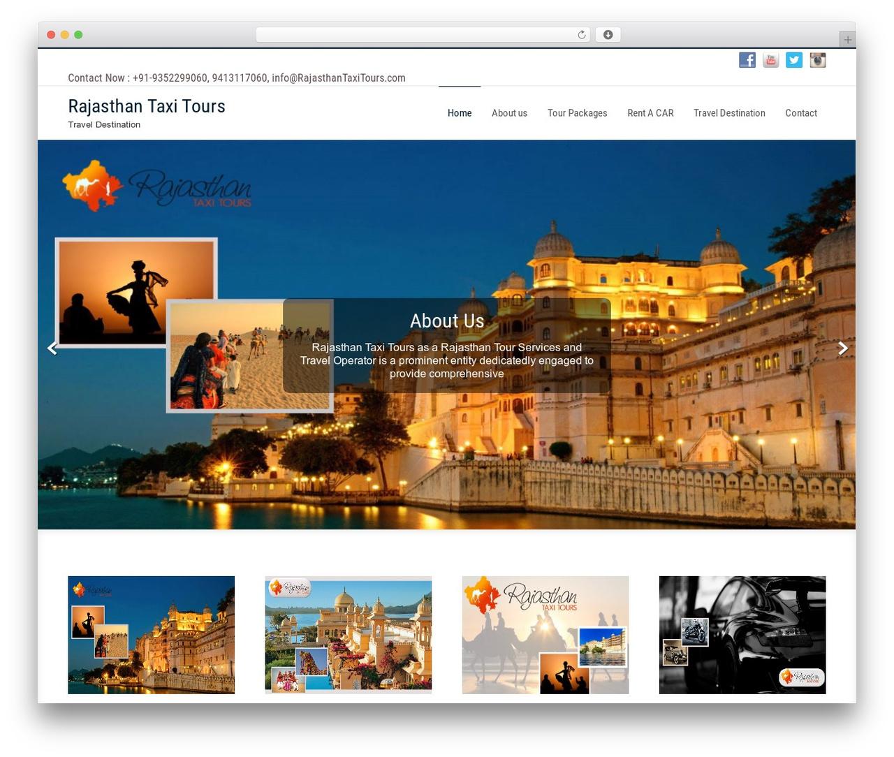 Businessweb Plus free WP theme - rajasthantaxitours.com