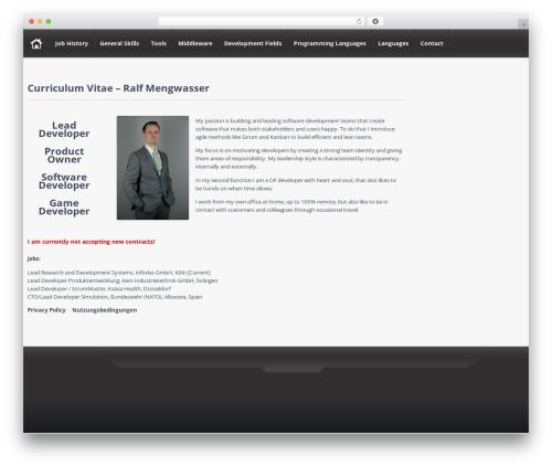 Free WordPress Resume Builder plugin - ralf-mengwasser.de