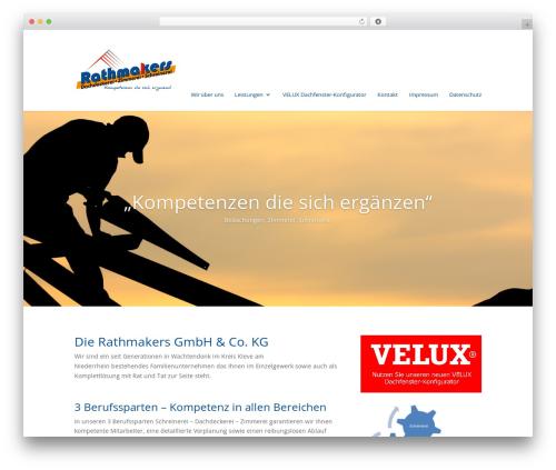 Divi theme WordPress - rathmakers.eu