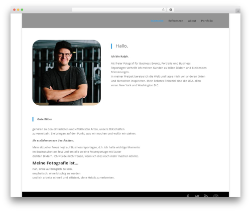 Divi wallpapers WordPress theme - ralph-pache.de