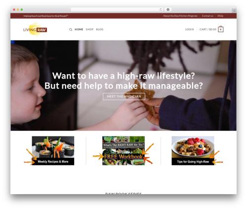 Flatsome food WordPress theme - rawkitchenmagician.com