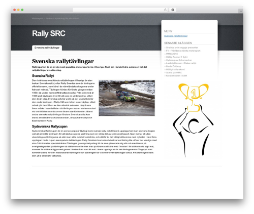 Fusion automotive WordPress theme - rally-src.se