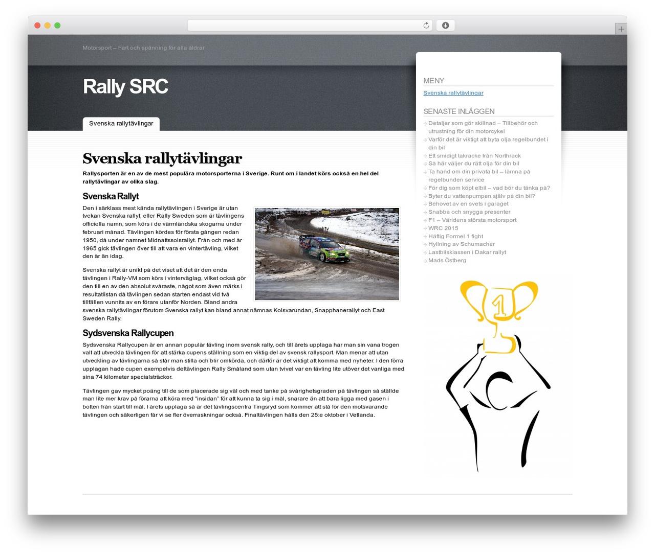 Fusion automotive WordPress theme - rally-src.se