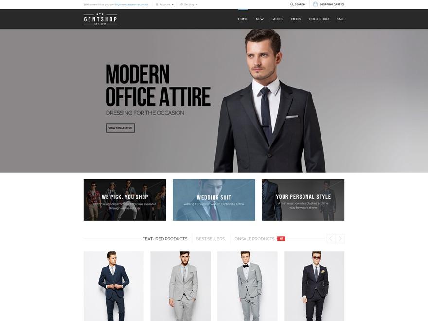 Gentshop WordPress shopping theme